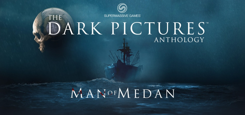 The Dark Pictures Anthology promotional image showing the boat and stormy sea from Man of Medan.